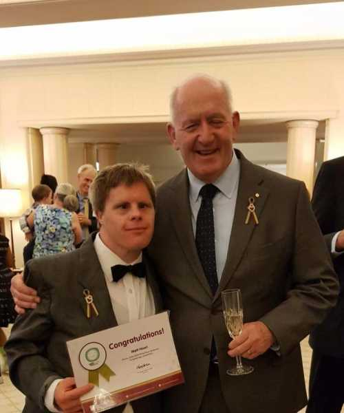 Matt Hoori wins competition to create logo for the World Down Syndrome Congress 2022