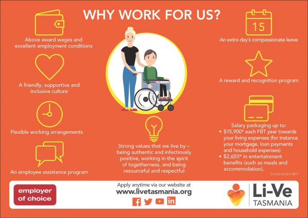 Why work for Li Ve infographic